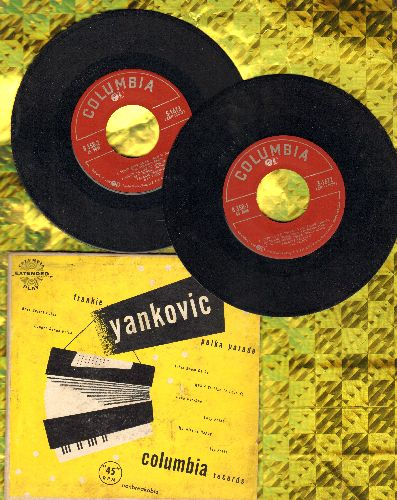 Yankcovic, Frankie - Polka Parade: Beer Barrel Polka, Hoop-Dee-Doo, Tchin Boom Da Ra, Lucy Polka + 4 (2 vinyl EP rewcords in gate-fold cover) - EX8/VG7 - 45 rpm Records