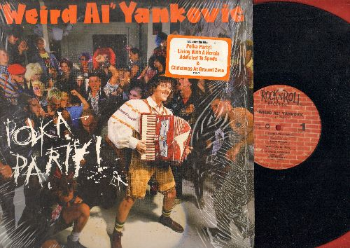 Yankovic, Weird Al - Polka Party!: Living With A Hernia, Addicted To Spuds, Christmas At Ground Zero, Here's Johnny (vinyl LP record, still in shrink wrap) - NM9/NM9 - LP Records