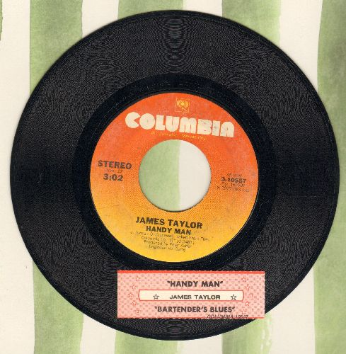 Taylor, James - Handy Man/Bartender's Blues (with juke box label) - NM9/ - 45 rpm Records