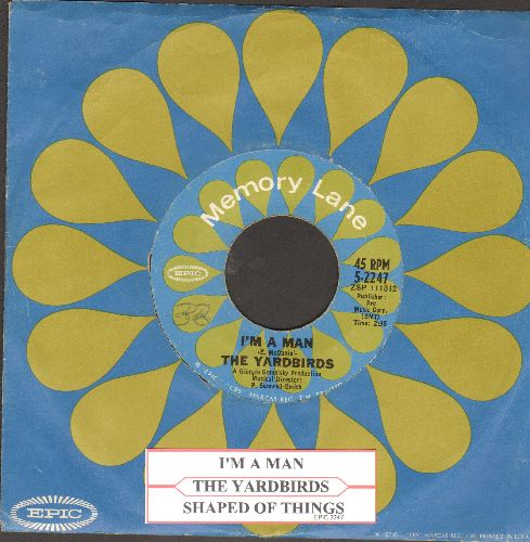 Yardbirds - I'm A Man/Shapes Of Things (double-hit re-issue with juke box label and company sleeve)  - EX8/ - 45 rpm Records