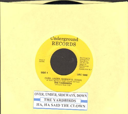 Yardbirds - Over, Under, Sideways, Down/Ha, Ha Said The Clown (double-hit re-issue with juke box label) - NM9/ - 45 rpm Records