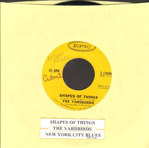 Yardbirds - Shapes Of Things/New York City Blues (with juke box label)(wol) - VG6/ - 45 rpm Records