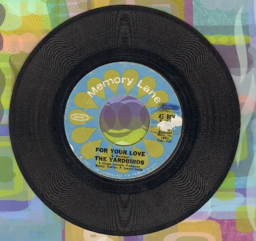 Yardbirds - For Your Love/Heart Full Of Soul (minor wol) - VG7/ - 45 rpm Records