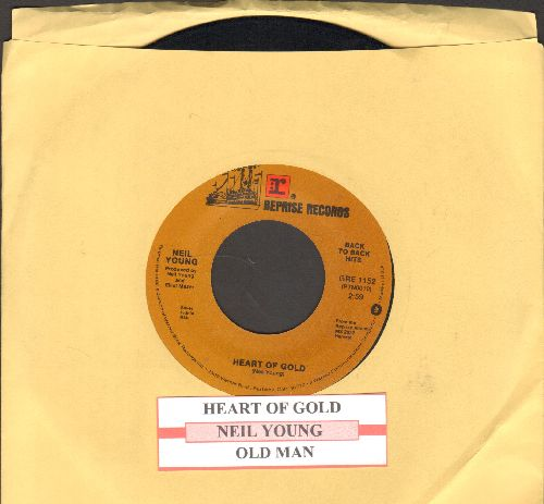 Young, Neil - Heart Of Gold/Old Man (with juke box label) - VG7/ - 45 rpm Records