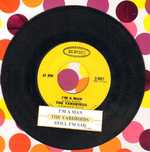 Yardbirds - Still I'm Sad/I'm A Man (with juke box label) - EX8/ - 45 rpm Records