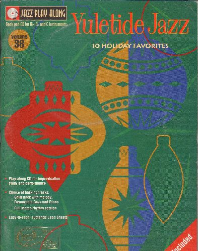 Yultide Jazz - SHEET MUSIC Book ad BONUS CD with 10 Holiday Favorites! Includes Feliz Navidad, Here Comes Santa Claus, The Most Wonderful Time Of The Year, My Favorite Things +6 (GREAT Gift for piano student!) - NM9/ - Sheet Music