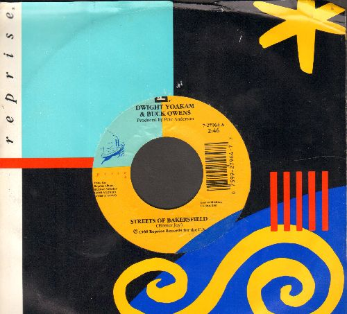 Yoakam, Dwight & Buck Owens - Streets Of Bakersfield/One More Name (with Reprise company sleeve) - NM9/ - 45 rpm Records