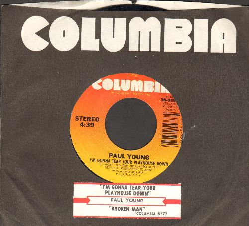 Young, Paul - I'm Gonna Tear Your Playhouse Down/Broken Man (Live) (with juke box label and company sleeve) - NM9/ - 45 rpm Records