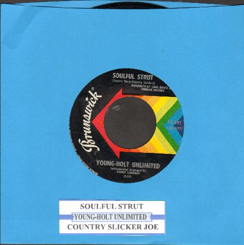 Young-Holt Unlimited - Soulful Strut/Country Slicker Joe (with juke box label) - NM9/ - 45 rpm Records