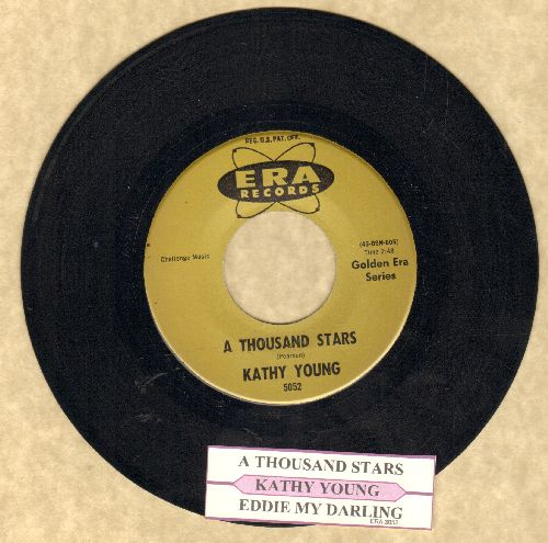 Young, Kathy - A Thousand Stars/Eddie My Darling (authentic-looking re-issue with juke box label) - NM9/ - 45 rpm Records