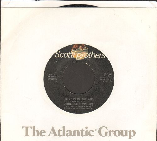 Young, John Paul - Love Is In The Air (DANCE CLUB FAVORITE!)/Where The Action Is (with company sleeve) - NM9/ - 45 rpm Records
