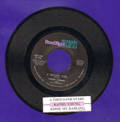 Young, Kathy - A Thousand Stars/Eddie My Darling (with jukebox label) - NM9/ - 45 rpm Records