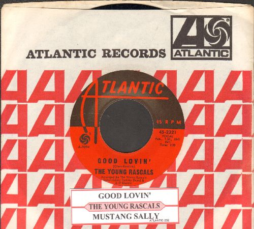 Young Rascals - Good Lovin'/Mustang Sally (with company sleeve and juke box label) - NM9/ - 45 rpm Records
