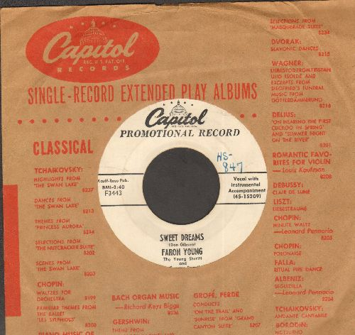 Young, Faron - Sweet Dreams/Until I Met You (DJ advance pressing with vintage Capitol company sleeve) - VG7/ - 45 rpm Records