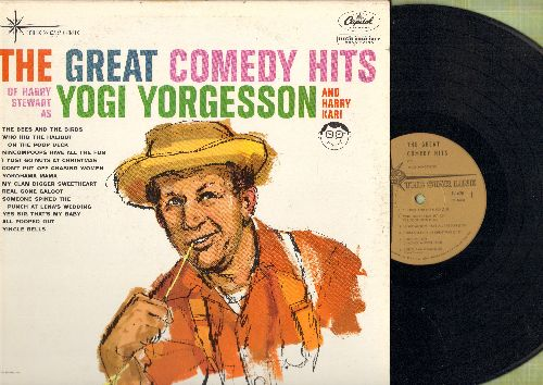 Yorgesson, Yogi - The Great Comedy Hits: Yokohama Mama, All Pooped Out, Nincompoops Have All The Fun, I Yst Go Nuts At Christmas (Vinyl MONO LP record, re-issue of vintage novelty recordings) - NM9/EX8 - LP Records