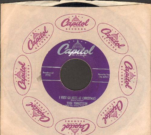 Yorgesson, Yogi - I Yust Go Nuts At Christmas/Yingle Bells (purple label first pressing with Capitol company sleeve) - EX8/ - 45 rpm Records