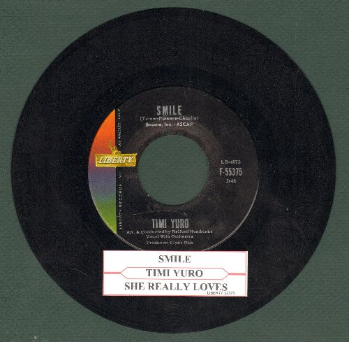 Yuro, Timi - She Really Loves You/Smile (with juke box label) - VG7/ - 45 rpm Records