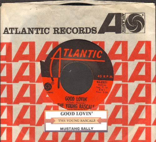 Young Rascals - Good Lovin'/Mustang Sally (with juke box label and Atlantic company sleeve) - NM9/ - 45 rpm Records