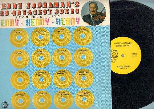 Youngman, Henny - Henny Youngman's 128 Greatest Jokes - Recorded LIVE: Henny - Henny - Henny (vinyl LP record, RHINO Label re-issue Pressing) - EX8/EX8 - LP Records