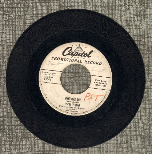 Young, Vicki - Tweedlee Dee/Tears On My Pillow (DJ advance pressing) - VG6/ - 45 rpm Records