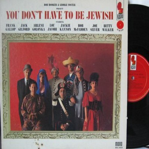 Booker, Bob & George Foster - You Don't Have To Be Jewish - Hilarious Comedy Album featuring Frank Gallop, Jack Gilford, Bob McFadden, Betty Walker, others (vinyl MONO LP record) - NM9/EX8 - LP Records