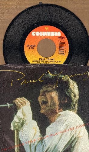 Young, Paul - I'm Gonna Tear Your Playhouse Down/Broken Man (Live) (with picture sleeve) - NM9/EX8 - 45 rpm Records