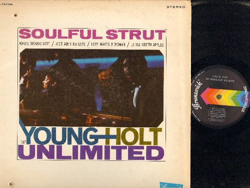 Young-Holt Unlimited - Soulful Strut: Who's Making Love, Just Ain't No Love, Love Makes A Woman, Little Green Apples (vinyl STEREO LP record, bb lupper/lower left cover) - NM9/VG7 - LP Records
