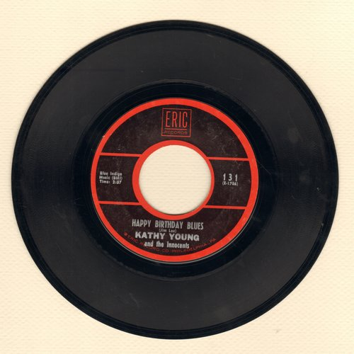 Young, Kathy - Happy Birthday Blues/A Thousand Stars (double-hit 1970s re-issue) - EX8/ - 45 rpm Records