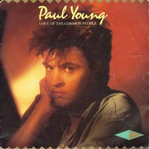 Young, Paul - Love Of The Common People/Behind Your Smile (LIVE) (German Pressing with picture sleeve) - NM9/VG7 - 45 rpm Records