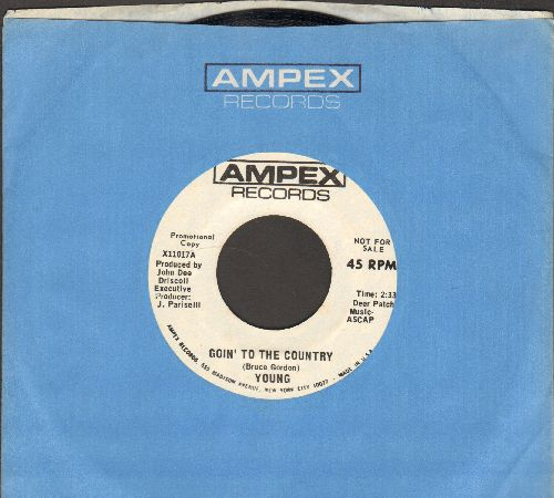 Young - Goin' To The Country (double-A-sided DJ advance pressing with Ampex company sleeve) - NM9/ - 45 rpm Records