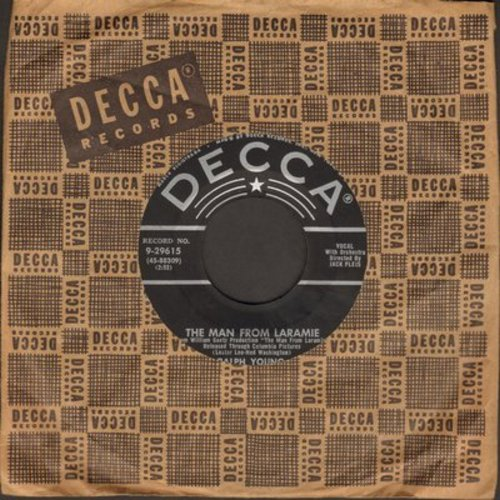 Young, Ralph - Man From Laramie/The Bible Tells Me So (with vintage Decca company sleeve) - EX8/ - 45 rpm Records
