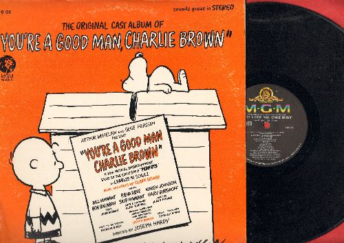 Original Cast - You're A Good Man, Charlie Brown - Original cast Album (vinyl STEREO LP record) - EX8/VG7 - LP Records