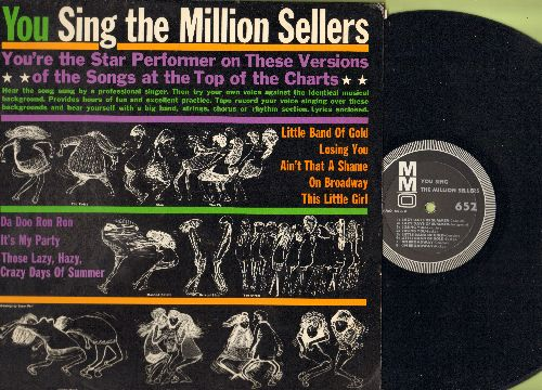 You Sing The Million Sellers - You're The Star Performer - Songs At The Top Of The Charts: Da Doo Ron Ron, It's My Party, Ain't That A Shame, This Little Girl (Vinyl LP record, song lyrics on cover) - NM9/NM9 - LP Records