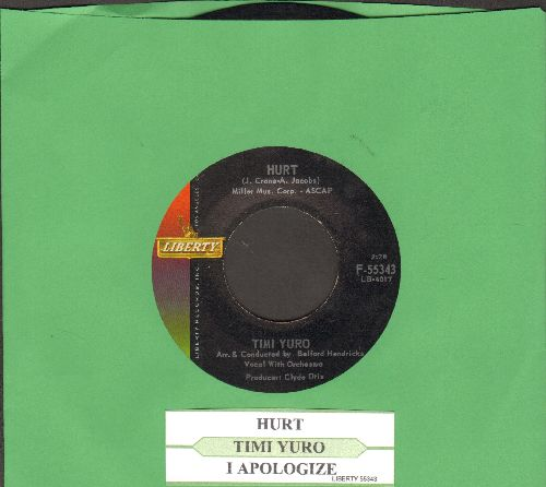 Yuro, Timi - Hurt/I Apologize (with juke box label) - NM9/ - 45 rpm Records