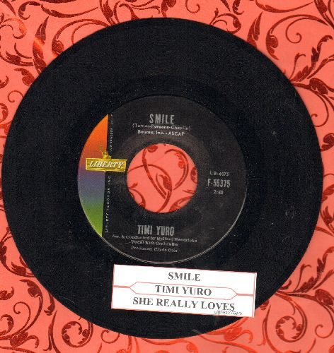Yuro, Timi - She Really Loves You/Smile (with juke box label) - NM9/ - 45 rpm Records