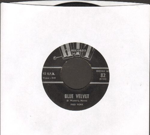 York, Fred - Blue Velvet/You Can Never Stop Me Loving You (by Bill Austin on flip-side) - VG6/ - 45 rpm Records