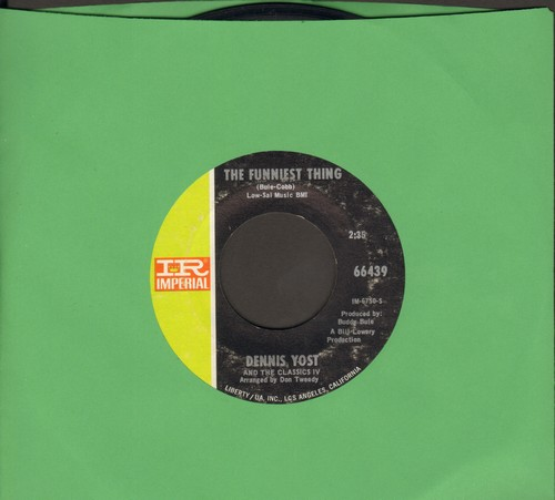 Yost, Dennis & The Classics IV - The Funniest Thing/Nobody Loves You But Me - EX8/ - 45 rpm Records