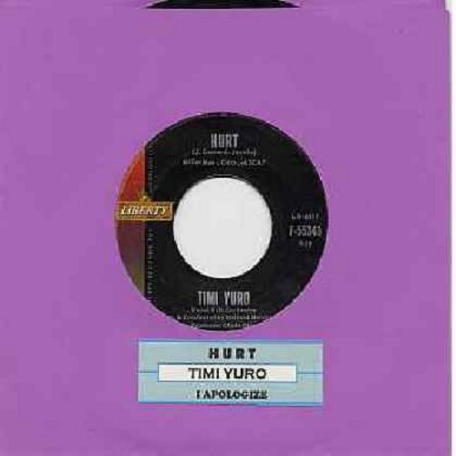 Yuro, Timi - Hurt/I Apologize (with juke box label) - EX8/ - 45 rpm Records