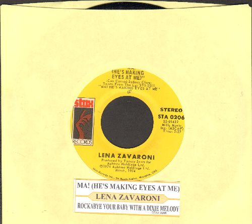 Zavaroni, Lena - Ma! (He's Making Eyes At Me)/Rockabye Your Baby With A Dixie Melody (with juke box label) - EX8/ - 45 rpm Records