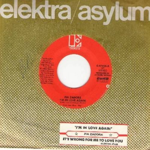 Zadora, Pia - I'm In Love Again/It's Wrong For Me To Love You (with juke box label) - NM9/ - 45 rpm Records
