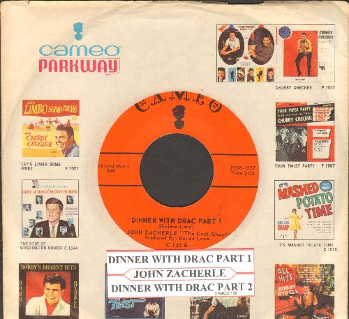 Zacherle, John - Dinner With Drac (Parts 1+2) (with RARE Cameo company sleeve) - EX8/ - 45 rpm Records