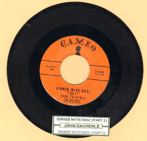 Zacherle, John - Dinner With Drac (Parts 1+2)(with juke box label) - VG7/ - 45 rpm Records