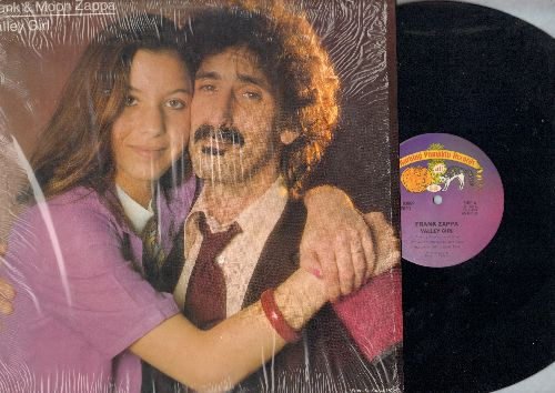 Zappa, Frank & Moon - Valley Girl/You Are What You Is (The ULTIMATE Novelty Record that started a short-lived Global craze!) (12 inch vinyl Maxi Single with song lyrics on back, shrink wrap) - NM9/NM9 - 45 rpm Records
