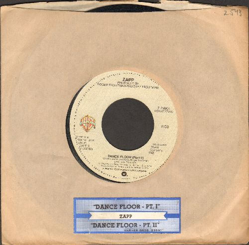 Zapp - Dance Floor (parts 1 + 2) (with Warner Brothers company sleeve and juke box label) - EX8/ - 45 rpm Records