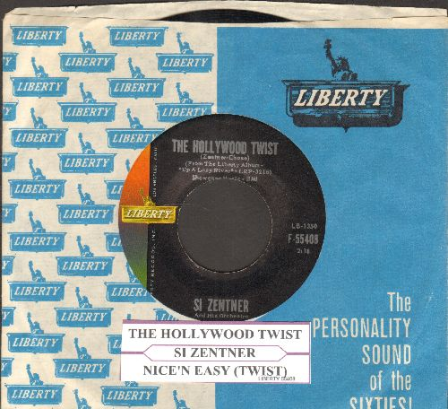 Zentner, Si - The Hollywood Twist (FANTASTIC 60's JAZZ TWIST THEME!/Nice 'N Easy Twist (with juuke box label Liberty company sleeve) - EX8/ - 45 rpm Records