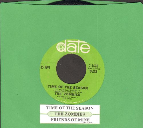 Zombies - Time Of The Season/Friends Of Mine (with juke box label) - NM9/ - 45 rpm Records