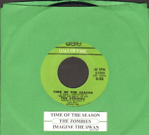 Zombies - Time Of The Season/Imagine The Swan (early double-hit re-issue with juke box label) - NM9/ - 45 rpm Records