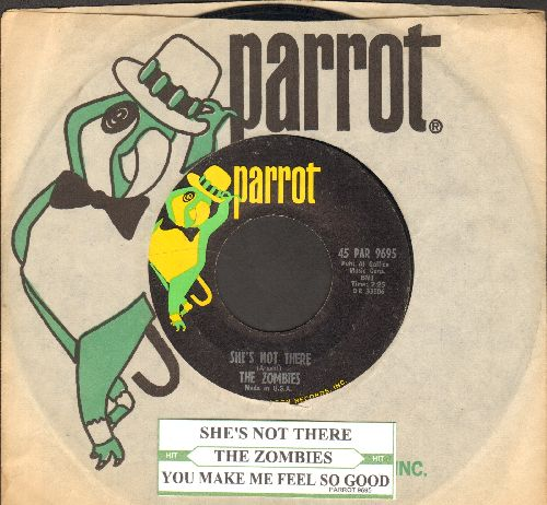 Zombies - She's Not There/You Make Me Feel So Good (with Parrot company sleeve and juke box label) - NM9/ - 45 rpm Records