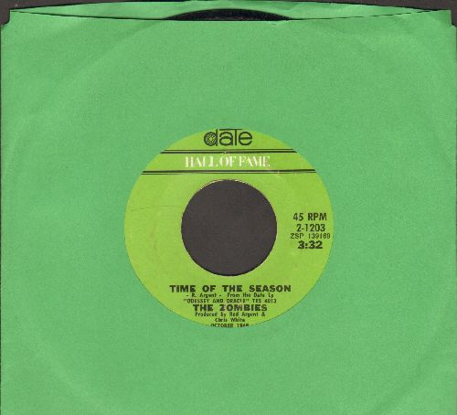 Zombies - Time Of The Season/Imagine The Swan (early double-hit re-issue) - NM9/ - 45 rpm Records