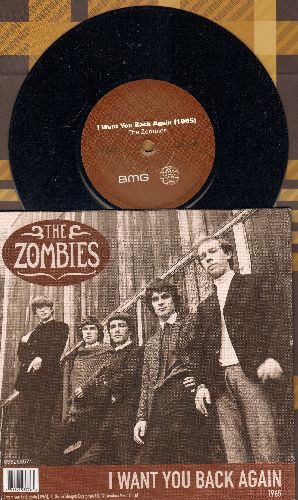 Zombies - I Want You Back Again (reissue of vintage 1965 recording + 2015 newly recorded version, 7 inch 45 rpm record with small spindle hole and picture cover) - NM9/NM9 - 45 rpm Records